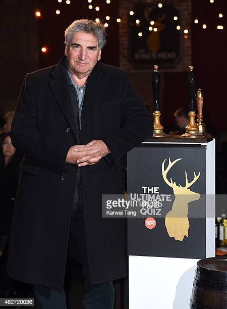 Jim Carter attends the Centrepoint Ultimate Pub Quiz at Village Underground on February 3 2015 in London England