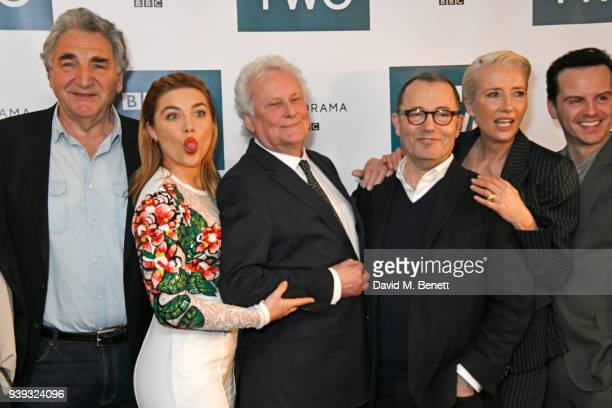 Jim Carter Florence Pugh Sir Richard Eyre Colin Callender Emma Thompson and Andrew Scott attend a special screening of new BBC Two drama 'King Lear'...