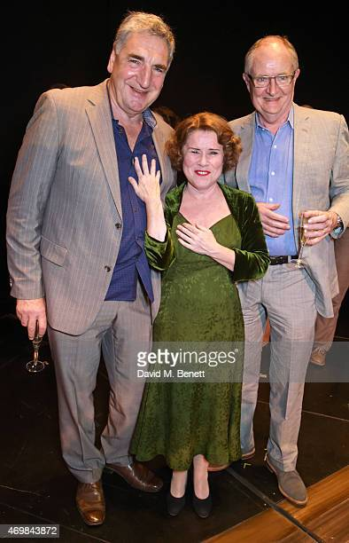 Jim Carter Imelda Staunton and Jim Broadbent attend a post show drinks reception on stage following the press night performance of Gypsy at The Savoy...