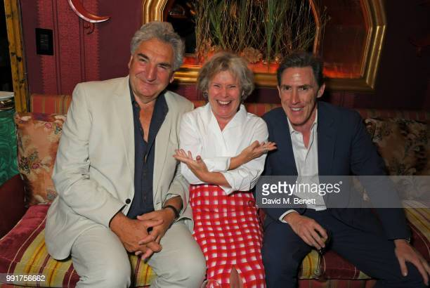 Jim Carter Imelda Staunton and Rob Brydon attend the after party for the UK Premiere of Swimming With Men' at Loulou's on July 4 2018 in London...