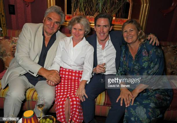 Jim Carter Imelda Staunton Rob Brydon and Claire Holland attend the after party for the UK Premiere of Swimming With Men' at Loulou's on July 4 2018...