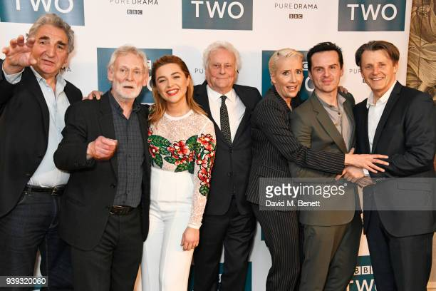 Jim Carter Karl Johnson Florence Pugh Sir Richard Eyre Emma Thompson Andrew Scott and Anthony Calf attend a special screening of new BBC Two drama...