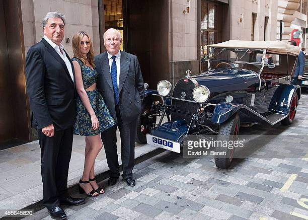 Jim Carter Laura Carmichael and Julian Fellowes attends a charity preview screening of 'Downton Abbey' at the Empire Leicester Square on September 17...