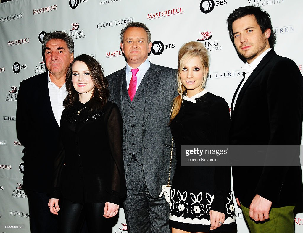 Jim Carter, Sophie McShera, Hugh Bonneville, Joanne Froggatt and Rob James-Collier attend the 'Downton Abbey' Season 3 Photo Call at the Essex House on December 12, 2012 in New York City.