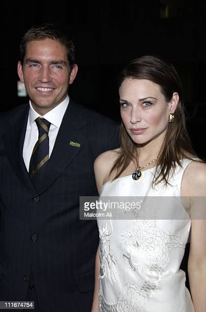 Jim Caviezel and Claire Forlani during Bobby Jones Stroke of Genius Los Angeles Premiere at Academy of Motion Picture Arts and Sciences in Beverly...