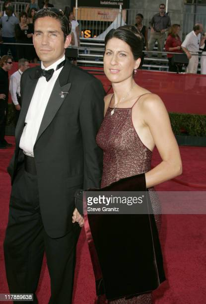 Jim Caviezel and wife during 2004 ESPY Awards Arrivals at Kodak Theatre in Hollywood California United States