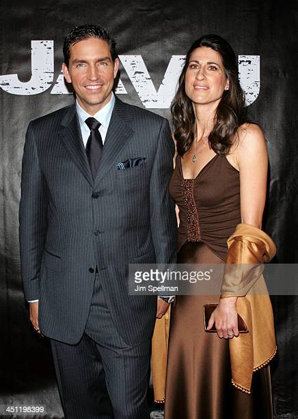 Jim Caviezel and wife during Deja Vu New York Premiere Outside Arrivals at Ziegfeld Theater in New York City New York United States