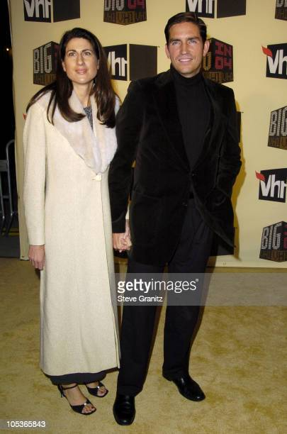 Jim Caviezel and wife during VH1 Big in '04 Arrivals at Shrine Auditorium in Los Angeles California United States