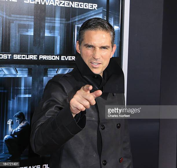 Jim Caviezel attends the 'Escape Plan' premiere at Regal EWalk on October 15 2013 in New York City