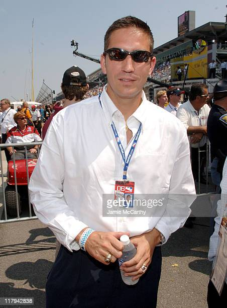 Jim Caviezel during Indianapolis 500 90th Running Race Day at Indianapolis Motor Speedway in Indianapolis Indiana United States
