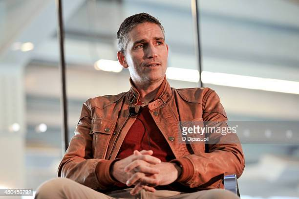 Jim Caviezel speaks on stage during Beyond Sport United Workshops Panels at Yankee Stadium on June 11 2014 in the Bronx borough of New York City