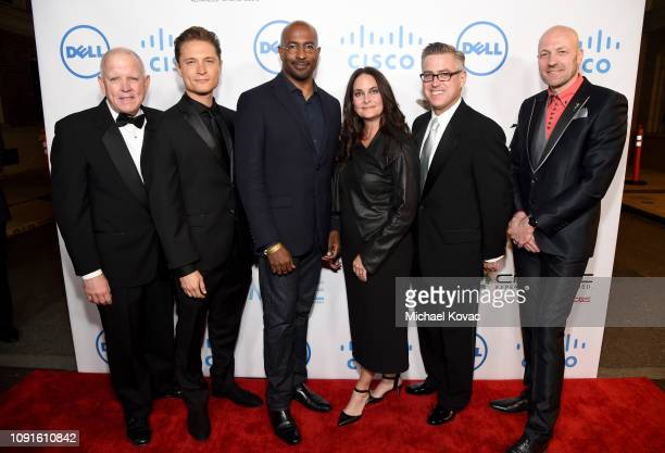 Jim Chabin Elijah AllanBlitz Van Jones Jana Carter guest and Wim Buyens attend the 10th Annual Lumiere Awards at Warner Bros Studios on January 30...