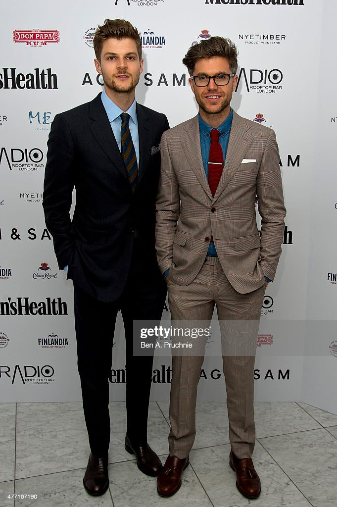 Jim Chapman and Darren Kennedy attend the Men's Health X Agi & Sam LCM Party at Radio Bar at the ME Hotel on June 14, 2015 in London, England.