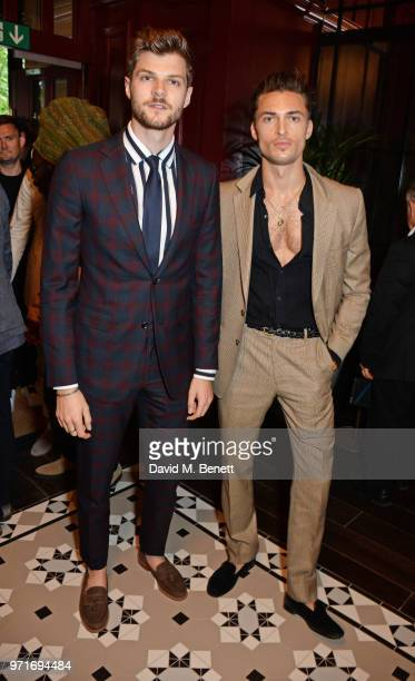 Jim Chapman and Harvey NewtonHaydon attend the GQ Dinner cohosted by Dylan Jones and Loyle Carner to celebrate London Fashion Week Men's June 2018 at...