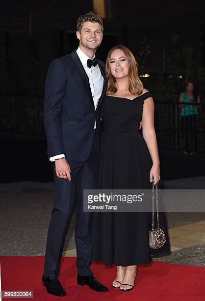 Jim Chapman and Tanya Burr arrive for the GQ Men Of The Year Awards 2016 at Tate Modern on September 6 2016 in London England