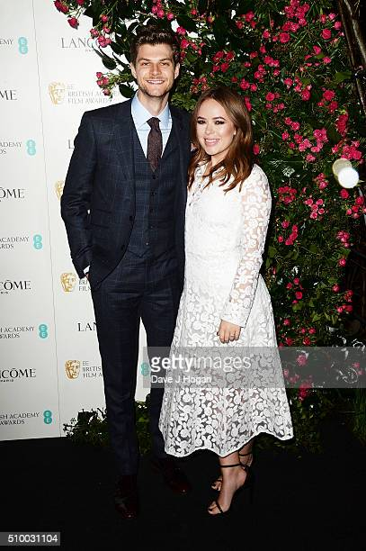 Jim Chapman and Tanya Burr attend the Lancome BAFTA nominees party at Kensington Palace on February 13 2016 in London England