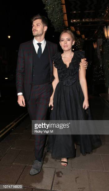 Jim Chapman and Tanya Burr seen attending the Claridge's Zodiac Party hosted by Diane von Furstenberg Edward Enninful to celebrate the Claridge's...