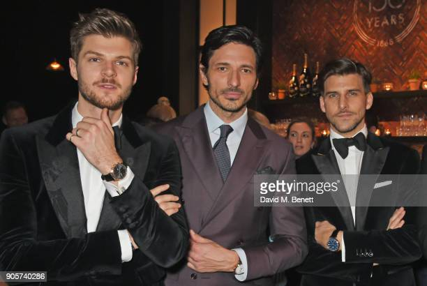Jim Chapman Andres Velencoso and Johannes Huebl attend the IWC Schaffhausen Gala celebrating the Maison's 150th anniversary and the launch of its...
