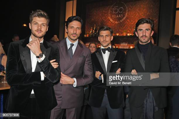 Jim Chapman Andres Velencoso Johannes Huebl and Teo van den Broeke attend the IWC Schaffhausen Gala celebrating the Maison's 150th anniversary and...