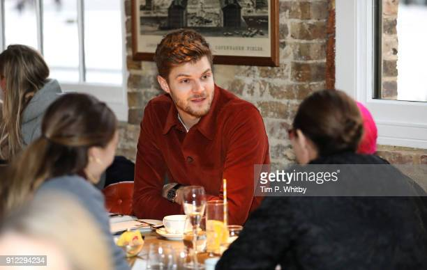 Jim Chapman attends an afternoon tea event to discuss the upcoming London Fashion Week Festival at Granary Square Brasserie on January 30 2018 in...