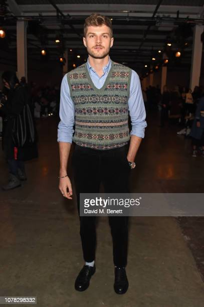 Jim Chapman attends the Christopher Raeburn show during London Fashion Week Men's January 2019 at the BFC Show Space on January 6 2019 in London...