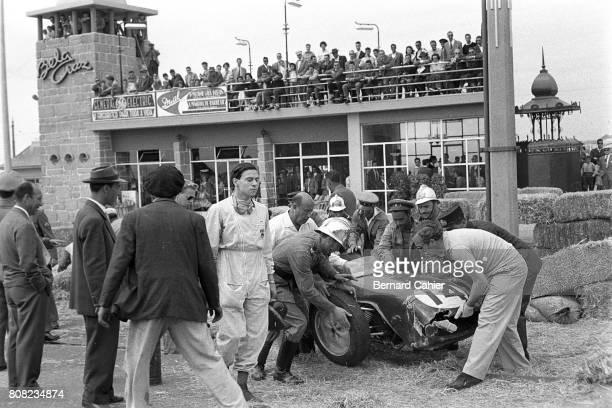 Jim Clark Colin Chapman Lotus 18 Coventry Climax Grand Prix of Portugal Boavista 14 August 1960