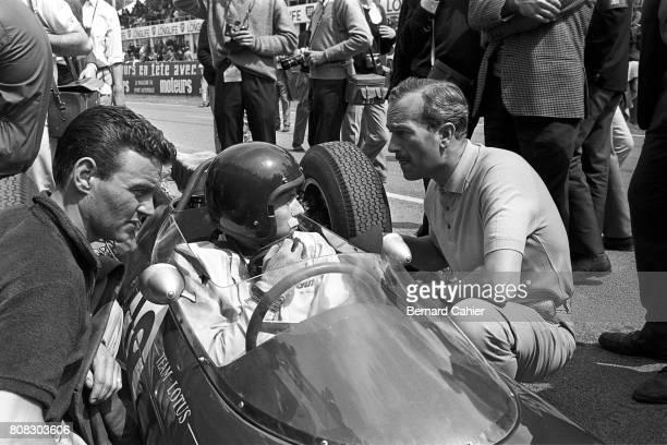 Jim Clark Colin Chapman Lotus 25 Coventry Climax Grand Prix of France Reims 30 June 1963