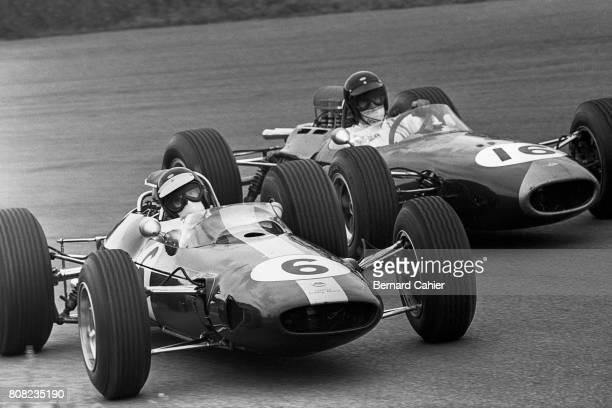 Jim Clark Dan Gurney Lotus 33 Coventry Climax Brabham BT 11 Coventry Climax Grand Prix of Netherlands Zandvoort 18 July 1965