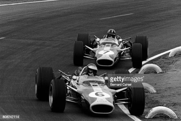 Jim Clark Graham Hill Lotus 49 Ford Cosworth Grand Prix of France Le Mans Bugatti 02 July 1967