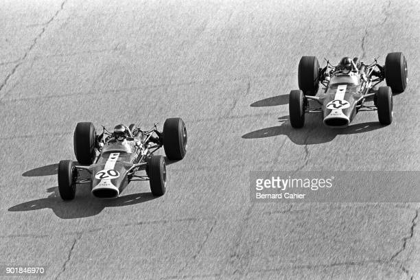 Jim Clark, Graham Hill, Lotus-Ford 49, Grand Prix of Italy, Autodromo Nazionale Monza, 10 September 1967.