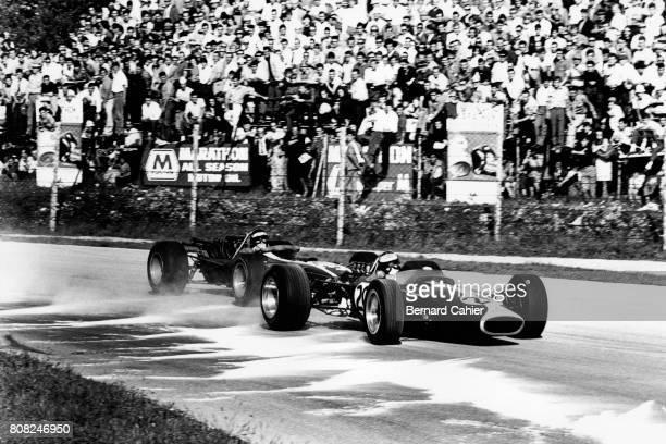 Jim Clark Jochen Rindt Lotus 49 Ford Cosworth Cooper Maserati Grand Prix of Italy Monza 10 September 1967