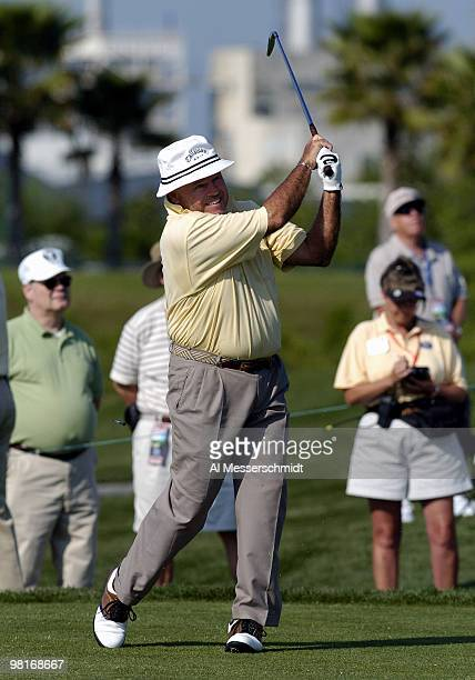 Jim Colbert competes in the second round of the Liberty Mutual Legends of Golf tournament Saturday April 24 2004 in Savannah Georgia