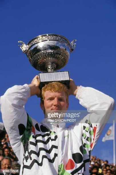Jim Courier remporte la finale du tournoi de Roland Garros en juin 1991 à Paris France