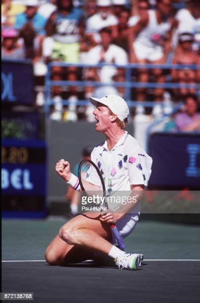 Jim Courier, tennis player plays in the Indian Wells Tennis Tournament April 9, 1991 Indian Wells, California .