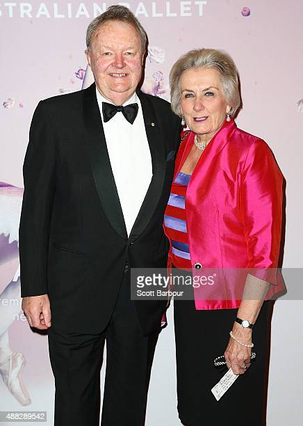 Jim Cousins Chairman of The Australian Ballet and his wife attend the Australian Ballet's 'The Sleeping Beauty' opening night at Arts Centre...