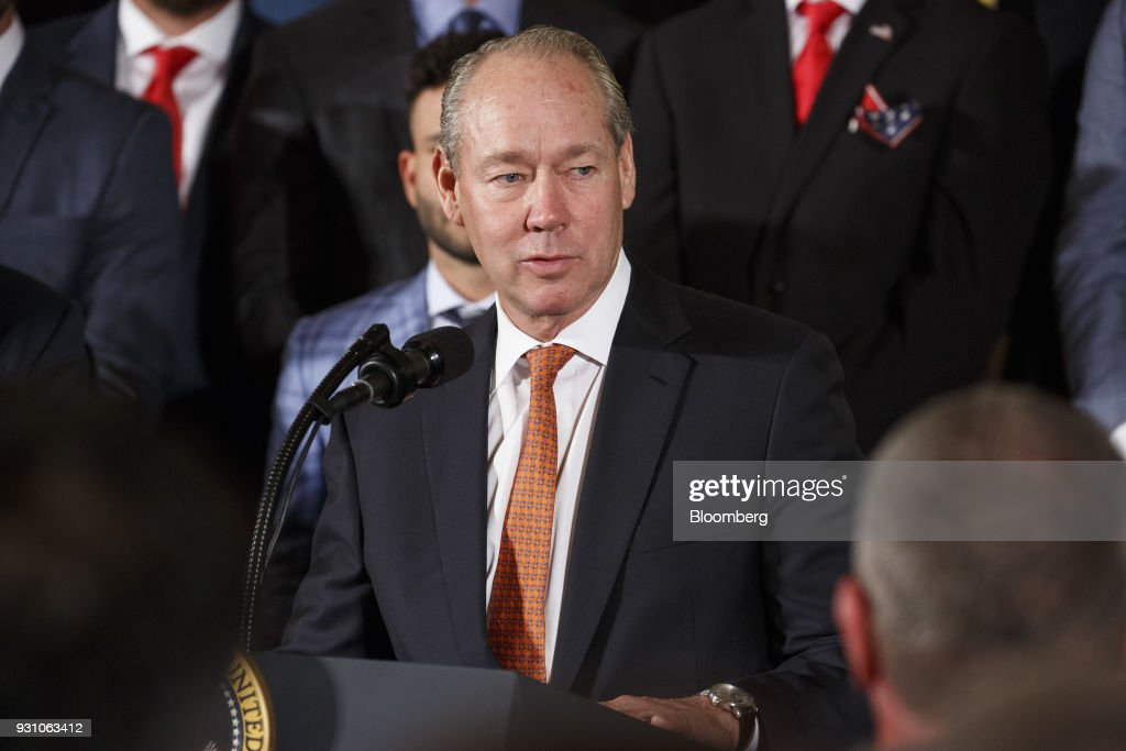 Jim Crane, owner of the Houston Astros, speaks during an event honoring the 2017 World Series Champion team with U.S. President Donald Trump, not pictured, at the White House in Washington, D.C., U.S. on Monday, March 12, 2018. While some professional sports athletes have snubbed him, Trump welcomed the Houston Astros to the White House Monday and thanked them as a class act. Photographer: Joshua Roberts/Bloomberg via Getty Images