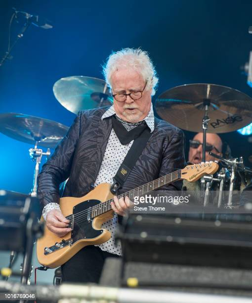 Jim Cregan of Cregan Co performs at Fairport Convention's Cropredy Convention at Cropredy on August 10 2018 in Banbury England