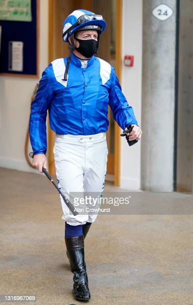 Jim Crowley at Ascot Racecourse on May 08, 2021 in Ascot, England. Only owners are allowed to attend the meeting but the public must wait until...