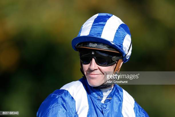 jim Crowley poses at Newmarket racecourse on September 28 2017 in Newmarket United Kingdom