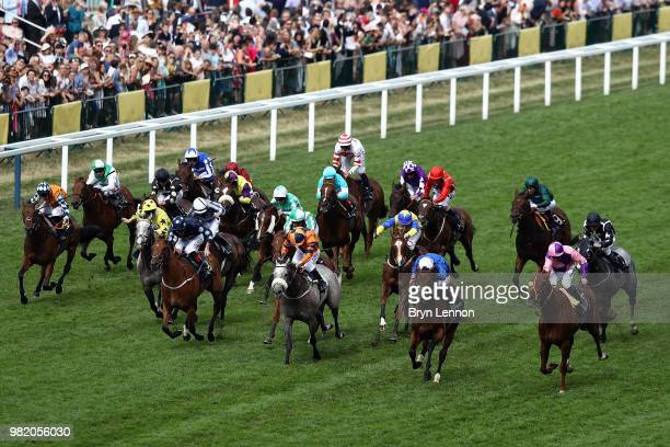 Jim Crowley riding Bacchus on his way to winning The Wokingham Stakes on day 5 of Royal Ascot at Ascot Racecourse on June 23 2018 in Ascot England