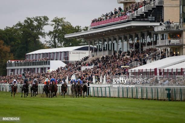 Jim Crowley riding Battaash win The Prix de l'Abbaye de Longchamp Longines during Prix de l'Arc de Triomphe meeting at Chantilly Racecourse on...