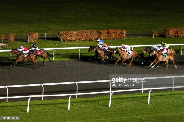 Jim Crowley riding Double Up win The 32Red Casino Handicap Stakes at Kempton racecourse on November 29 2017 in Sunbury United Kingdom