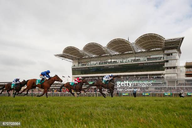 Jim Crowley riding Eminent win The bet365 Craven Stakes at Newmarket Racecourse on April 20 2017 in Newmarket England