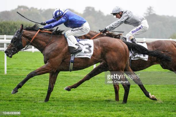 Jim Crowley riding Laraaib win The Stella Artois Cumberland Lodge Stakes at Ascot Racecourse on October 6 2018 in Ascot United Kingdom
