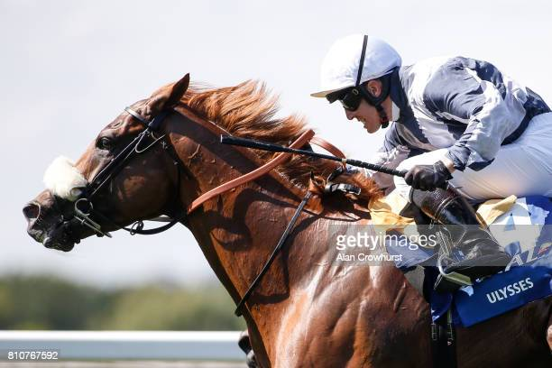 Jim Crowley riding Ulysses win The CoralEclipse at Sandown Park racecourse on July 8 2017 in Esher England