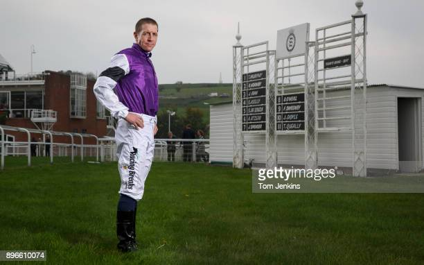 Jim Crowley the champion flat race jockey poses for a portrait at Goodwood Racecourse on September 27th 2017 in West SussexEngland