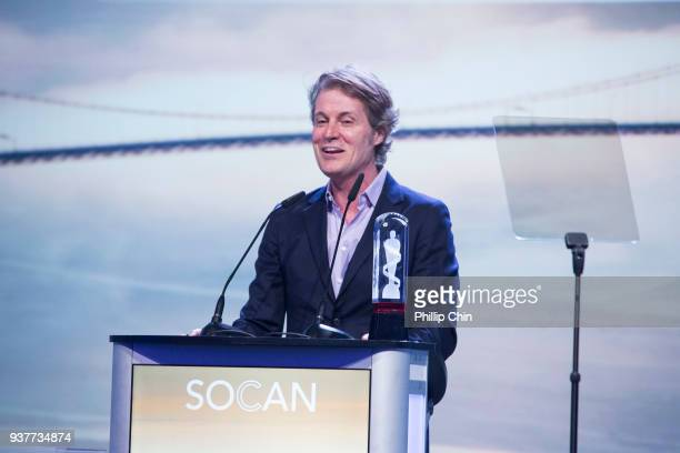 Jim Cuddy receives the Musicounts Inspired Minds Ambassador Award at the Juno Gala Dinner and Awards at the Vancouver Convention Centre on March 24...