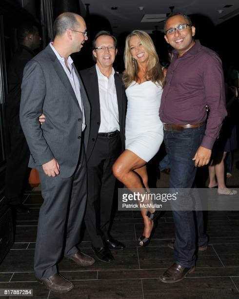 Jim Curtis David Blair Denise Austin and Mike Keriakos attend EVERYDAY HEALTH Anniversary Party at Gansevoort Park Avenue South on September 23 2010...