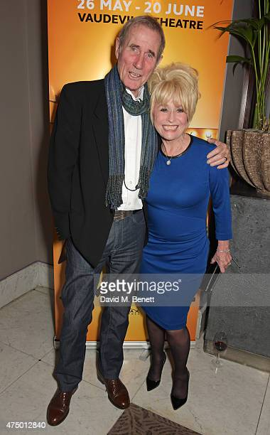 Jim Dale and Barbara Windsor attend an after party following the press night performance of 'Just Jim Dale' at The Waldorf Hilton Hotel on May 28...
