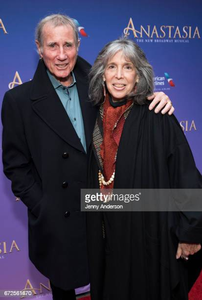 Jim Dale and Julia Schafler attend Anastasia opening night at The Broadhurst Theatre on April 24 2017 in New York City